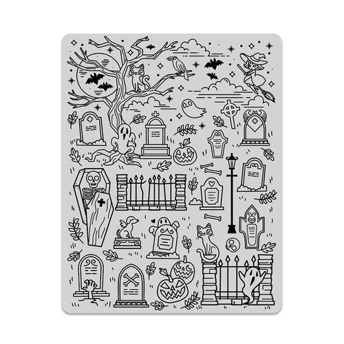 Hero Arts - Repositionable Rubber Stamps - Halloween Scene Background