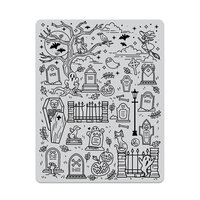 Hero Arts - Repositionable Rubber Stamps - Halloween Scene Background
