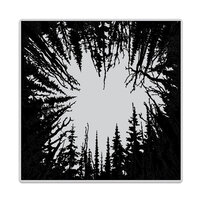 Hero Arts - Repositionable Rubber Stamps - Cathedral of Trees Bold Prints