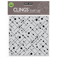 Hero Arts - Clings - Repositionable Rubber Stamps - Line and Dot Pattern Bold Prints
