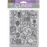 Hero Arts - Clings - Repositionable Rubber Stamps - Feast Background
