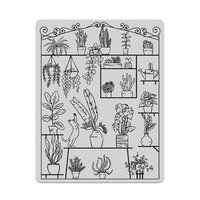 Hero Arts - Clings - Repositionable Rubber Stamps - Greenhouse Peek-A-Boo