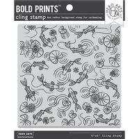 Hero Arts - Clings - Repositionable Rubber Stamps - Koi Pond Bold Prints