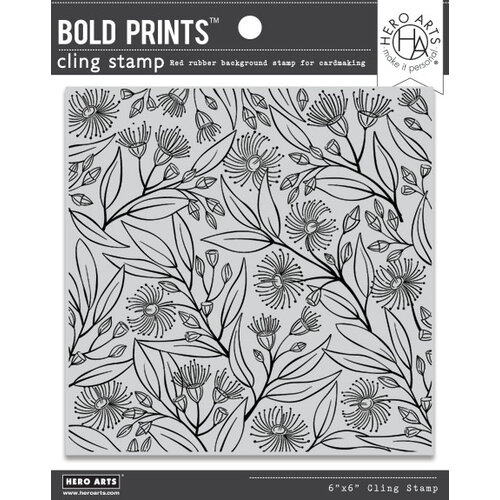 Hero Arts - Clings - Repositionable Rubber Stamps - Eucalyptus Bold Prints