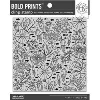 Hero Arts - Cling - Repositionable Rubber Stamps - Underwater Pattern bold Prints
