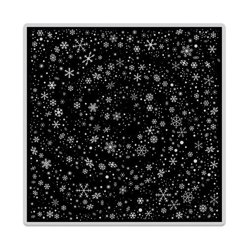 Hero Arts- Clings - Repositionable Rubber Stamps - Snowflake Swirl Bold Prints