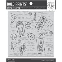 Hero Arts - Cling Rubber Stamps - Pool Party