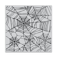 Hero Arts - Clings - Repositionable Rubber Stamps - Spider Web Bold Prints