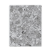 Hero Arts - Repositionable Rubber Stamps - Butterfly Garden