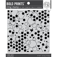 Hero Arts - Clings - Repositionable Rubber Stamps - Abstract Honeycomb Bold Prints