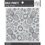 Hero Arts - Clings - Repositionable Rubber Stamps - Bold Prints - Island Fruits