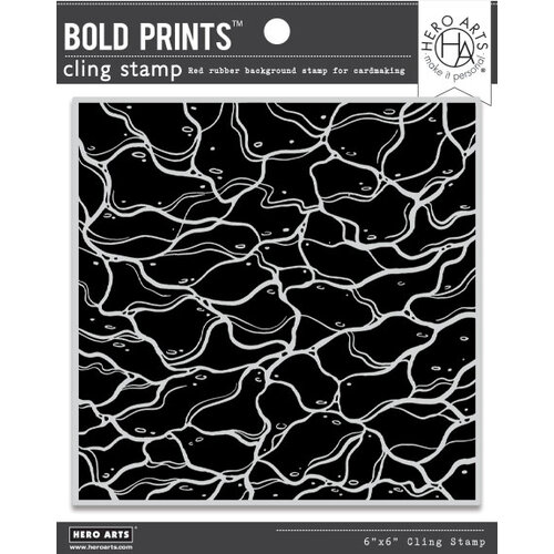Hero Arts - Clings - Repositionable Rubber Stamps - Bold Prints - Water Ripples