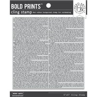 Hero Arts - Repositionable Rubber Stamps - Novel Prose Bold Prints