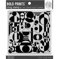 Hero Arts - Clings - Repositionable Rubber Stamps - Circles and Cylinders Bold Prints