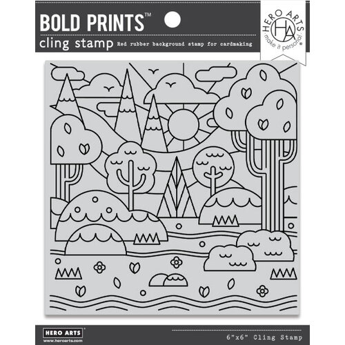 Hero Arts - Cling Mounted Rubber Stamps - Forest Shapes Bold Prints