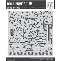 Hero Arts - Clings - Repositionable Rubber Stamps - Forest Shapes Bold Prints