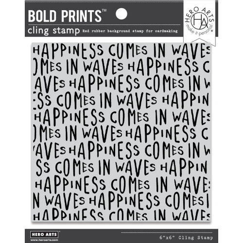 Hero Arts - Clings - Repositionable Rubber Stamps - Bold Prints - Happiness Waves