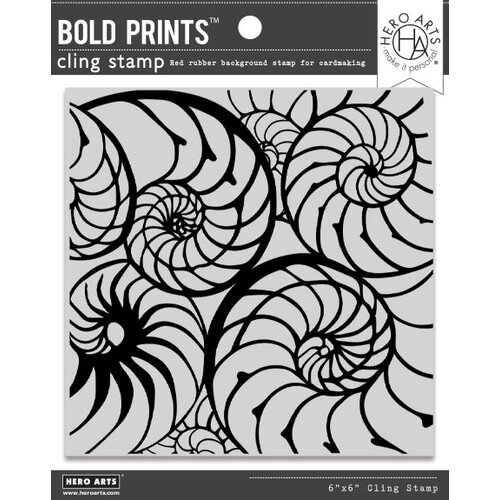 Hero Arts - Clings - Repositionable Rubber Stamps - Bold Prints - Nautilus Pattern
