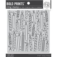 Hero Arts - Clings - Repositionable Rubber Stamps - Candles Bold Prints