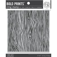 Hero Arts - Clings - Repositionable Rubber Stamps - Woodgrain Bold Prints