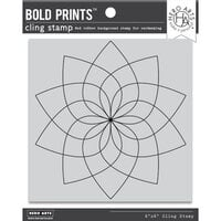 Hero Arts - Clings - Repositionable Rubber Stamps - Floral Color Wheel Bold Prints