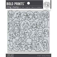 Hero Arts - Clings - Repositionable Rubber Stamps - United People Bold Prints