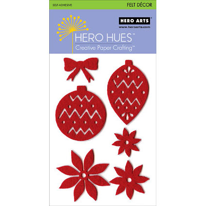 Hero Arts - Hero Hues - Self Adhesive Felt Decor - Red Christmas, CLEARANCE