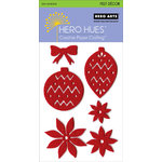 Hero Arts - Hero Hues - Self Adhesive Felt Decor - Red Christmas, CLEARANCE