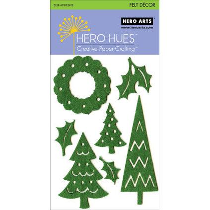 Hero Arts - Hero Hues - Self Adhesive Felt Decor - Green Christmas