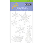 Hero Arts - Hero Hues - Self Adhesive Felt Decor - White Christmas