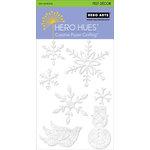 Hero Arts - Hero Hues - Self Adhesive Felt Decor - White Christmas