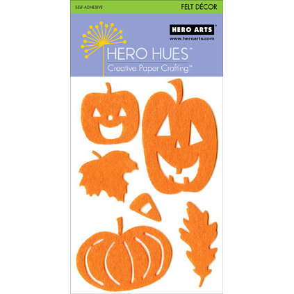 Hero Arts - Hero Hues - Self Adhesive Felt Decor - Orange Halloween, CLEARANCE