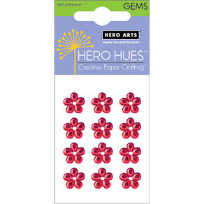 Hero Arts - Hero Hues - Bling - Blossom Gems - 10 mm -Red, CLEARANCE
