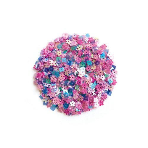 Hero Arts - Sequins - Pink Pop Flowers