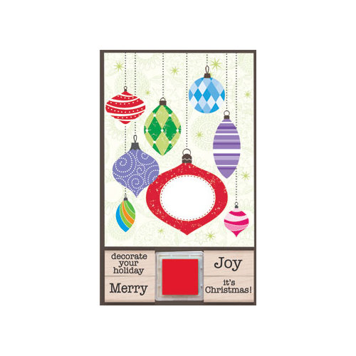 Hero Arts - Add Your Message - Stamp and Ink Set - Add Your Message - Ornament
