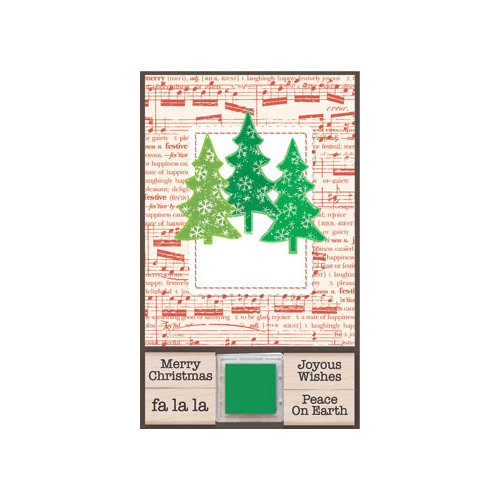 Hero Arts - Add Your Message - Stamp and Ink Set - Add Your Message - Three Trees