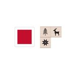 Hero Arts - Hanging Christmas Ornament - Wood Stamp Set - Christmas