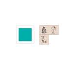 Hero Arts - Hanging Christmas Ornament - Wood Stamp Set - Winter