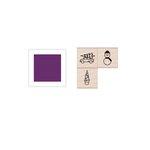 Hero Arts - Hanging Christmas Ornament - Wood Stamp Set - Holiday