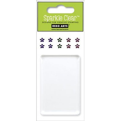 Hero Arts - Sparkle Clear - Clear Acrylic Stamping Block with Gems - 2 x 3 Inch