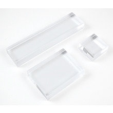 Hero Arts - Clear Design - Clear Acrylic Stamping Block - Trio of Small Blocks