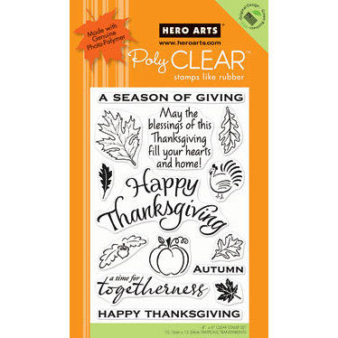 Hero Arts - Poly Clear - Christmas - Clear Acrylic Stamps - Season of Giving