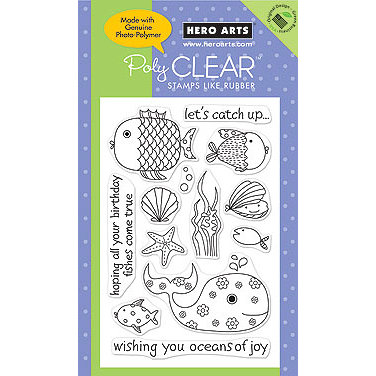 Hero Arts - Poly Clear - Clear Acrylic Stamps - Oceans of Joy