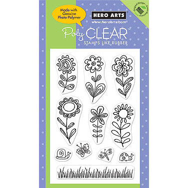 Hero Arts - Poly Clear - Clear Acrylic Stamps - Stamp a Garden, CLEARANCE