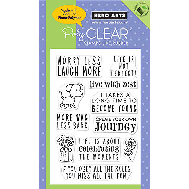 Hero Arts - Poly Clear - Clear Acrylic Stamps - Life is not Perfect, CLEARANCE