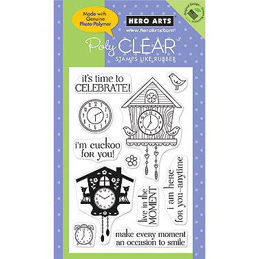 Hero Arts - Poly Clear - Clear Acrylic Stamps - Cuckoo, CLEARANCE