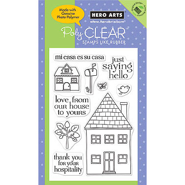 Hero Arts - Poly Clear - Clear Acrylic Stamps - Mi Casa
