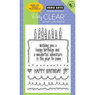 Hero Arts - Poly Clear - Clear Acrylic Stamps - Decorate your own Cake