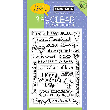 Hero Arts - Poly Clear - Valentines - Clear Acrylic Stamps - Valentine Sayings