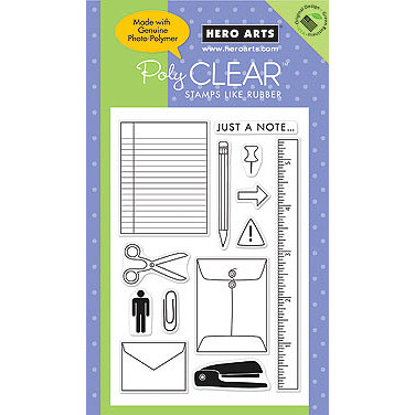 Hero Arts - Poly Clear - Clear Acrylic Stamps - Just a Note